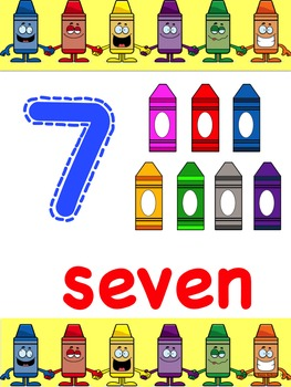 Crayon Themed Alphabet and Number Pack