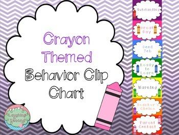 Crayon Themed Behavior Clip Chart