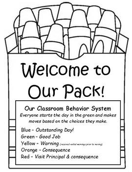 Crayon Themed Behavior Plan