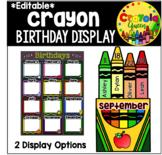 Crayon Themed Birthday Display