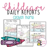 Crayon Themed Childcare Daily Reports  (Daycare)