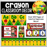 Crayon Themed Classroom Pack
