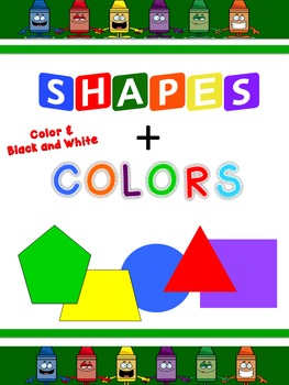 Crayon Themed Color and Shapes Pack