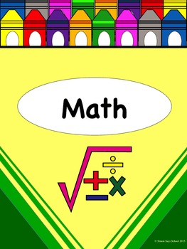 Crayon Themed Homework, Objectives, and Schedule Pack