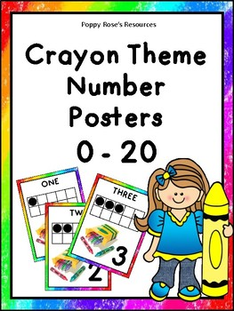 Crayon Themed Number Posters 0-20