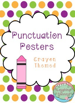 Crayon Themed - Punctuation Posters