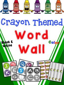 Crayon Themed Word Wall