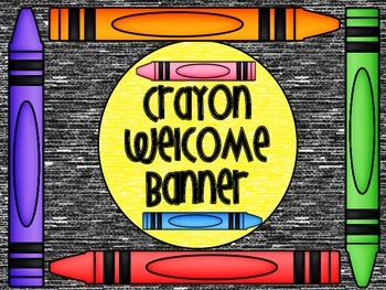 Crayon Welcome Banner