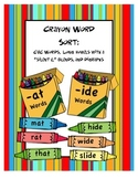 Crayon Word Sort:  CVC, Silent E, Blends, & Digraphs