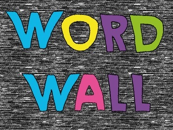 Crayon Word Wall
