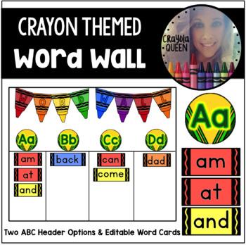 Crayon Word Wall