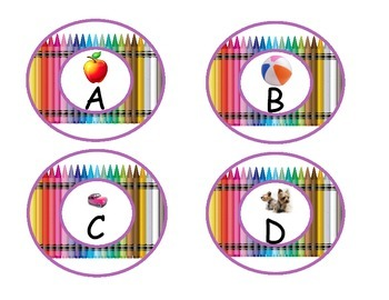 Crayon Word Wall Letters