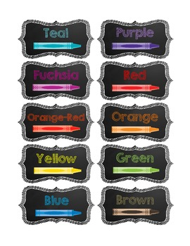 Crayon and Marker Drawer Labels & Organization {Chalkboard} {Free}