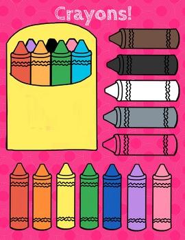 Crayon and Pencil Clipart