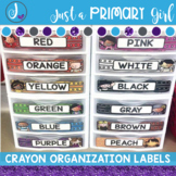 Crayon and Pencil Drawer Labels for Sterilite Containers