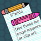 Crayon and Pencil Page Toppers Clipart