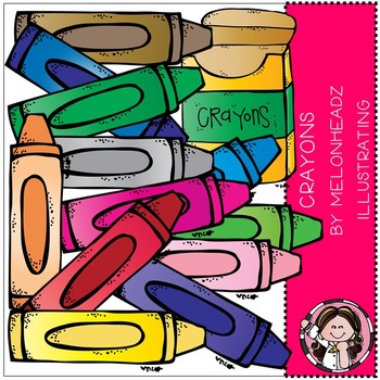 Melonheadz: Crayons clip art - COMBO PACK