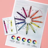 Crayon colour theory mini-book (color wheel, color theory, color harmony)