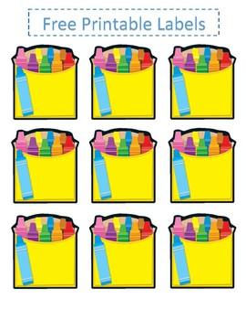 graphic regarding Free Printable Classroom Decorations identify Crayon crayola concept Clroom Decoration Offer