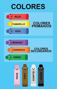 Crayones de Colores y Poster en Español