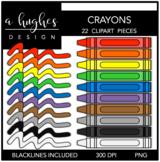 Crayons 1 Clipart {A Hughes Design}