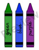 Crayons - 14 Colors - Labeled in English