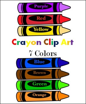 crayons 7 colors clip art by abc helping hands tpt rh teacherspayteachers com crayons clipart crayons clip art free