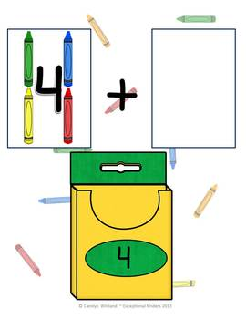 Crayons Addition Mats - Decomposing Numbers