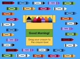"""""""Crayons"""" Back to School SMART Board Attendance Activity"""