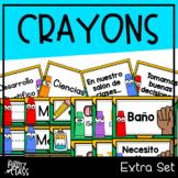 Crayons Classroom Decor (Extra Set) SPANISH