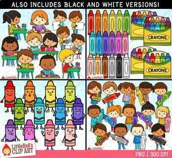 Crayons Clip Art Bundle
