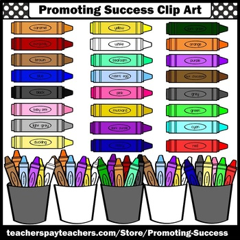 Crayon Clipart Commercial Use SPS