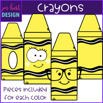 Crayons Clip Art- School Supplies {jen hart Clip Art)