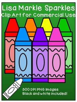 Crayons Clip Art for Commercial Use
