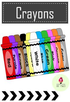 Crayons Clip arts ~ Freebie