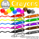 Crayons Clipart (English & Spanish Labels)