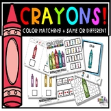 Crayons: Color Matching + Same or Different