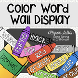 Crayons Color Word Display