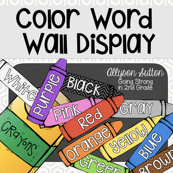 Crayons Color Word Display