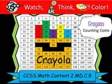 120 Chart Crayons Counting Coins Practice - Watch, Think,