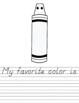 Crayons Craft and Writing