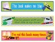 Crayons Crayola Bookmarks, Shelf Markers or Desk Name Plates - EDITABLE