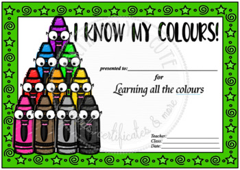 Crayons I Know My Colors-Colours