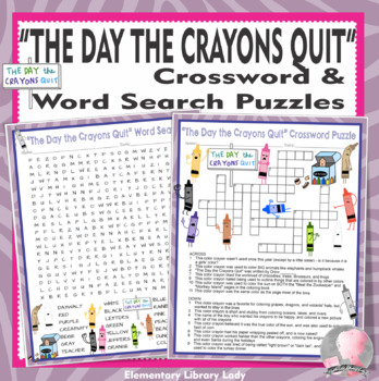Crayons Quit Came Home BUNDLE Activities Daywalt Crossword Puzzles Word Searches