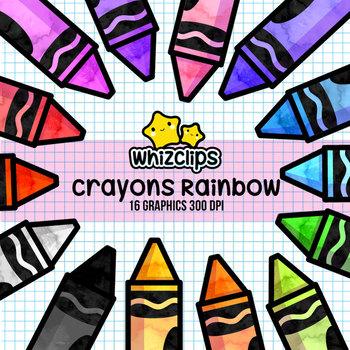 Crayons Rainbow Clipart