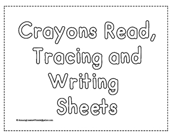 Crayons Read, Trace and Write Sheets