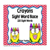 Crayons Sight Word Race