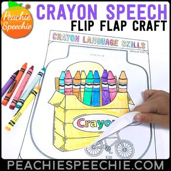 Crayons Speech and Language Flip Flap Craft
