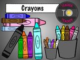Back To School Supplies: Crayon clipart {TeacherToTeacher