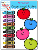 Crayons and Apples Freebie